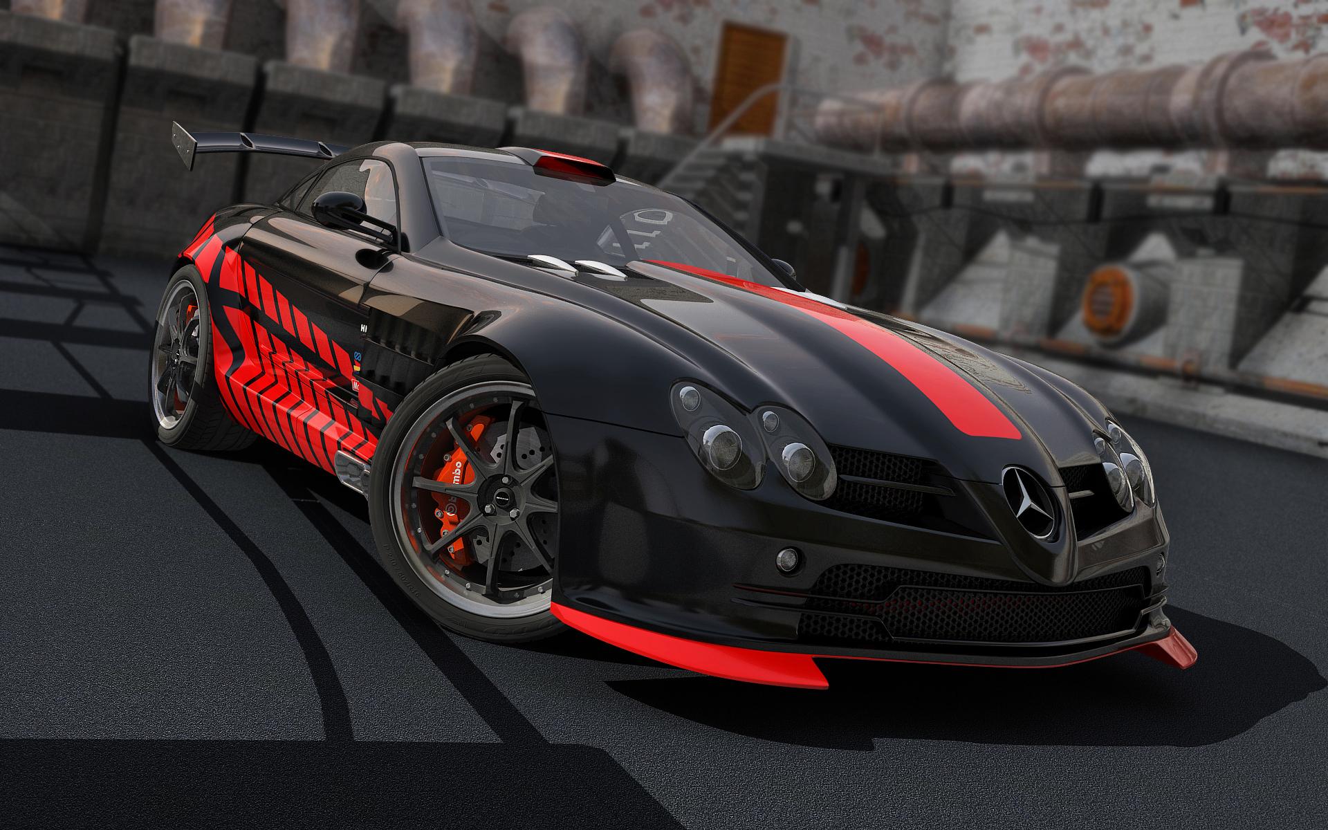 SLR McLaren new paintjob by stefanmarius