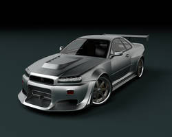Nissan Skyline GTR Front by stefanmarius