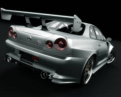 Nissan Skyline GTR back 2 by stefanmarius