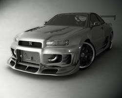 Nissan SKyline GTR Studio by stefanmarius