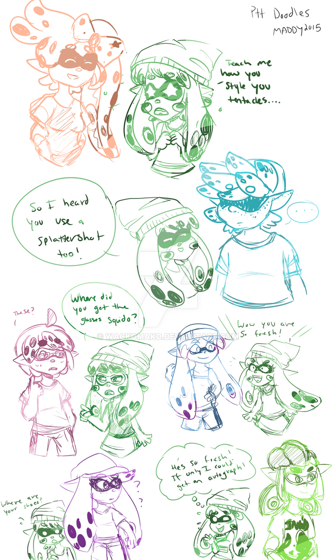 PTT-Squid Kid Doodles by wackomako