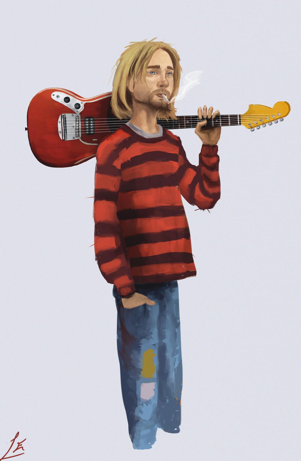 kurt Cobain by luisxlfuturo