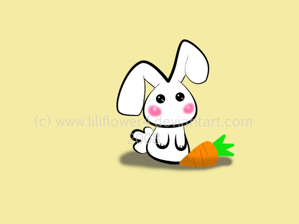 wallpaper bunny by liliflower4