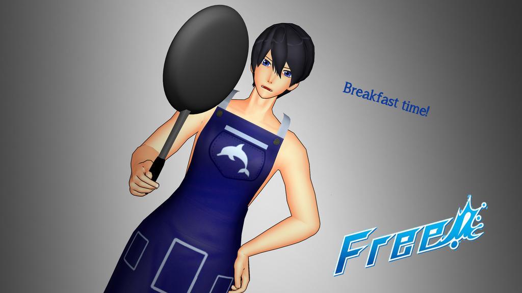 [MMD x Free!] Haruka Nanase [Breakfast Time] by LoverCathy