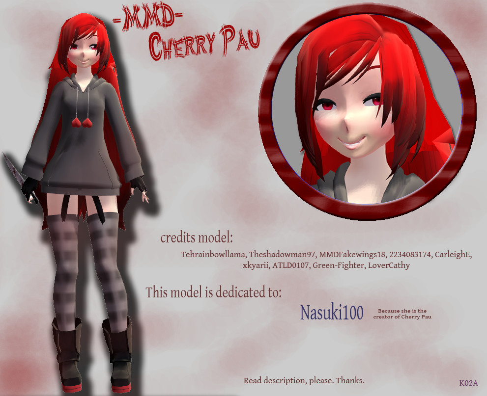 .MMD. Cherry Pau by LoverCathy