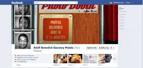 photo booth facebook timeline cover by aeidolf