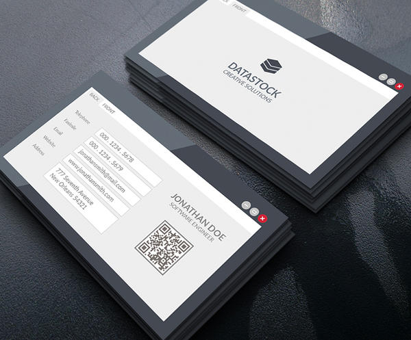 Software Engineer Business Card By GOWESDESIGN
