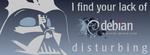Facebook cover debian Darth Vader by jschild