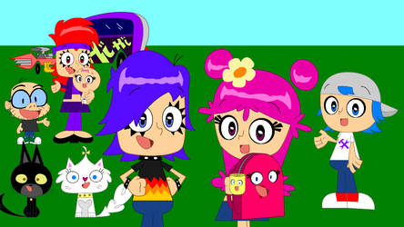 Hi Hi Puffy AmiYumi Wallpaper by JakeCrader