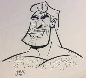 Inktober Day 4: Brave and the Bold cartoon Aquaman