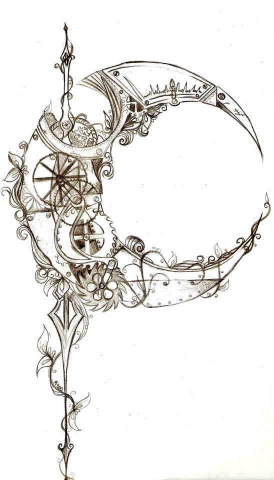 steampunk moon by MaryXII