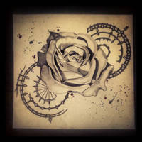 black rose by MaryXII