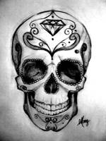 mexican skull by MaryXII