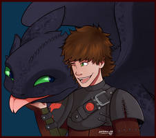 Hiccup and Toothless by dm17fox