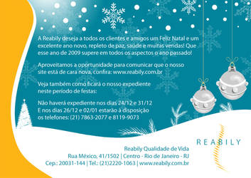 Cartao Festas Fim de Ano // Reabily by Quislom