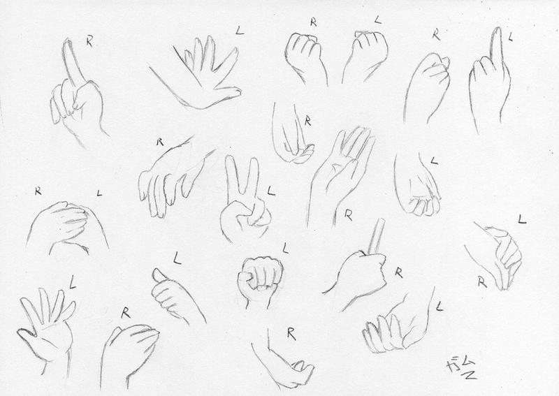 Hand Base Sketch By GaMu-ChAn On DeviantArt