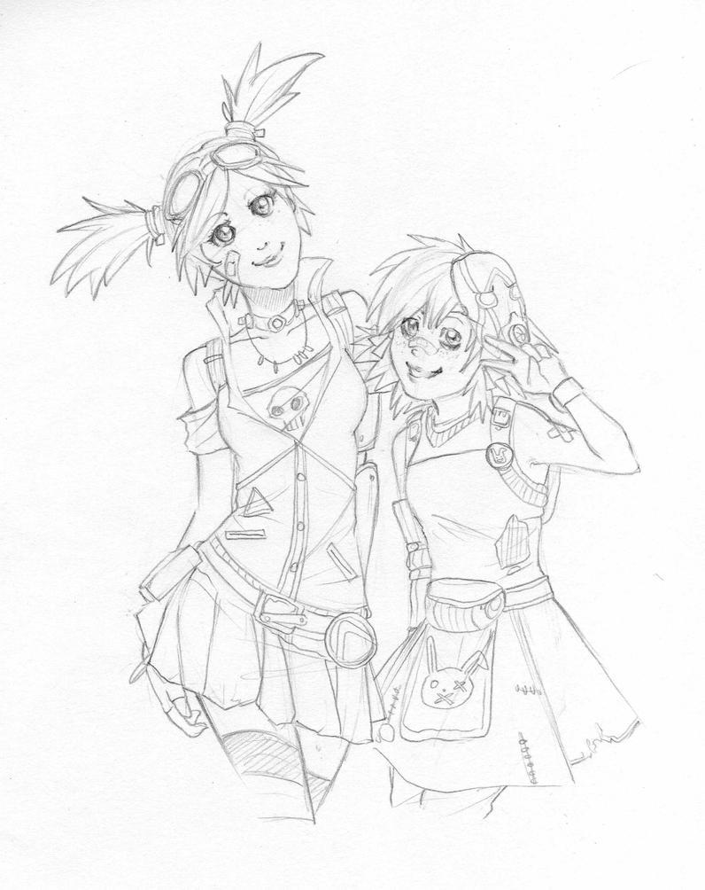 Gaige and Tiny Tina by GaMu-ChAn