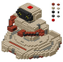 R. O. B. the bot pixel block by drageta