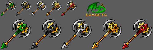 Pixel Dragon Axe by drageta