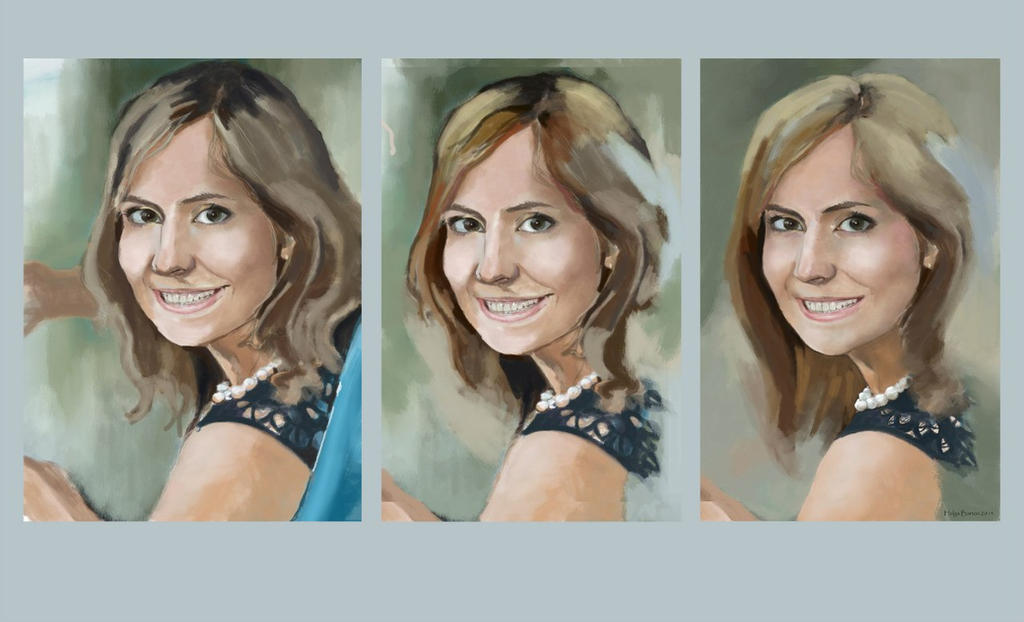 WIP portrait by Tavra