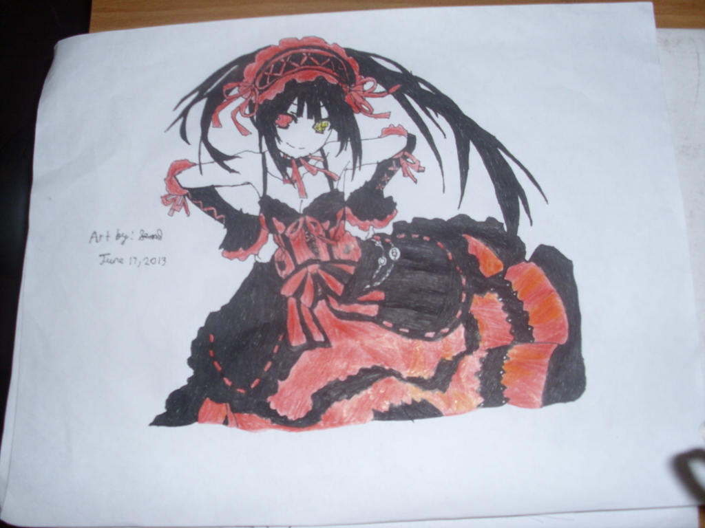 DrawingKurumi Tokisaki From Date A Live By MysticalDrawer