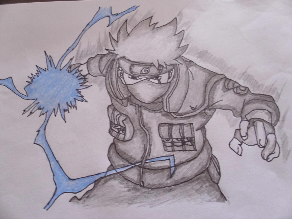 drawing kakashi using chidori
