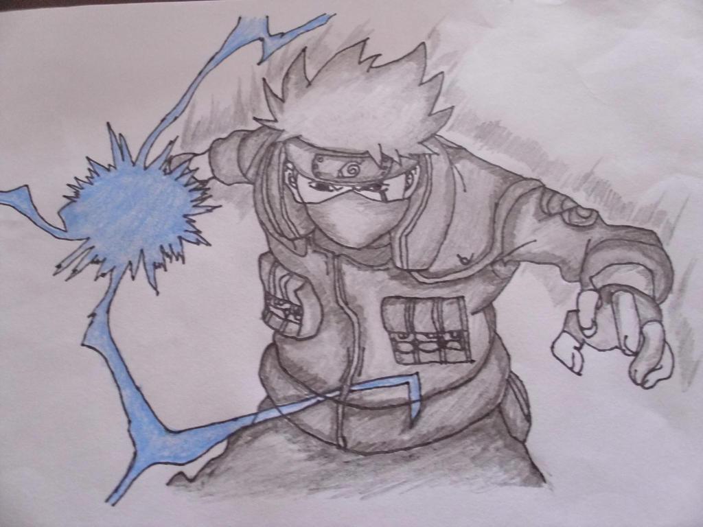 Drawing: Kakashi using Chidori! ^_^ by MysticalDrawer on ...