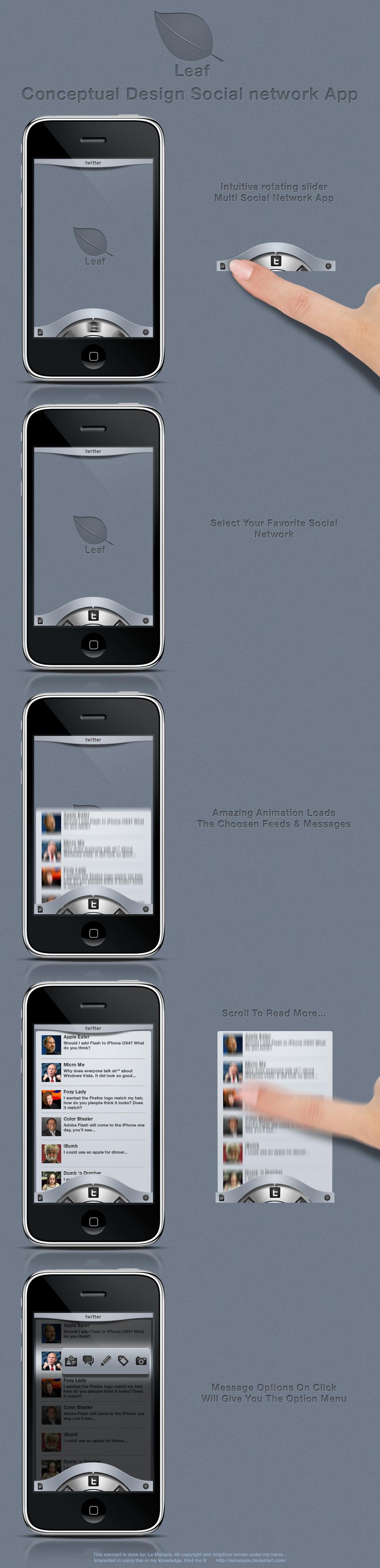 Leaf - Conceptual App Design