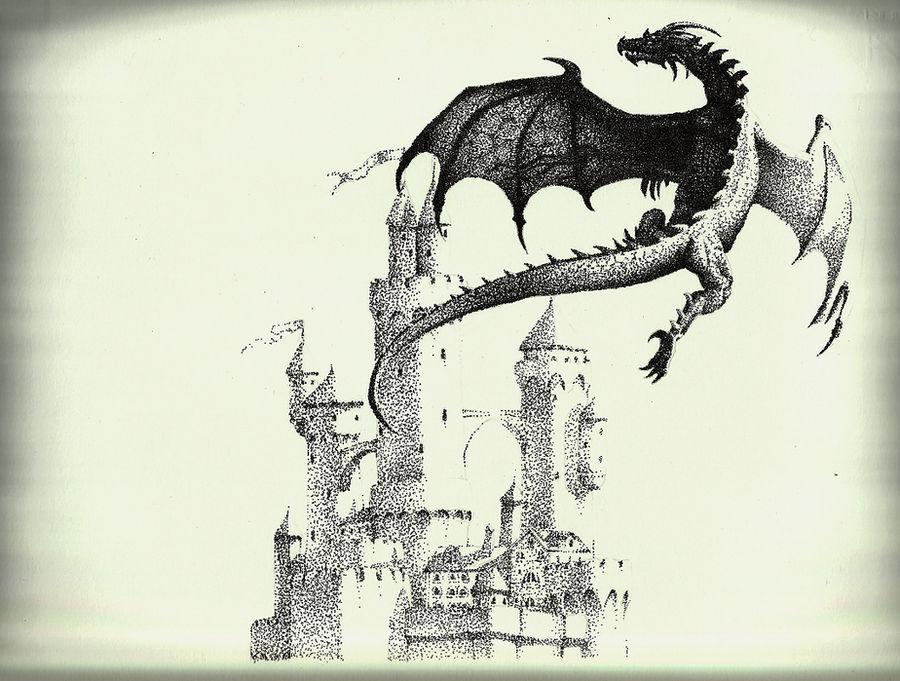 Stippling - Dragon