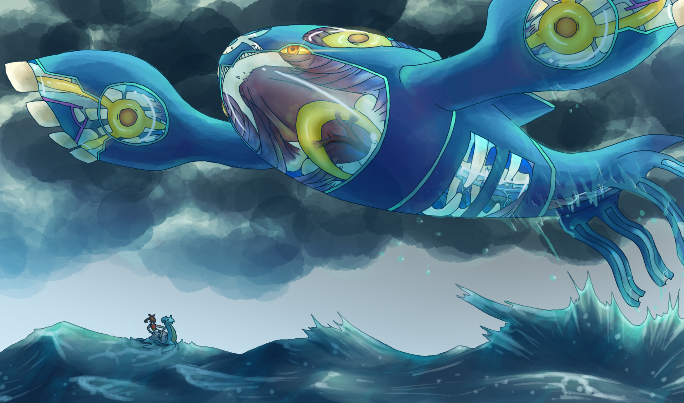 Very Mega Kyogre By Twilightdragonite On Deviantart