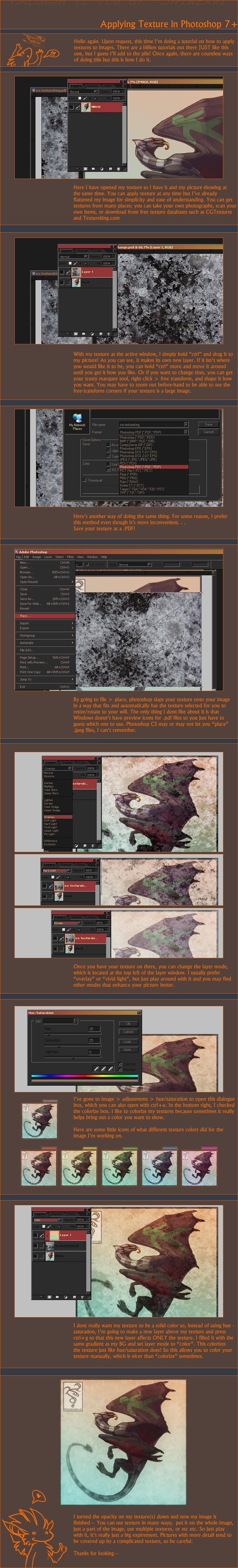 Tutorial: Applying Texture by Shinerai