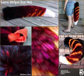 Lava Stripe Fox Tail
