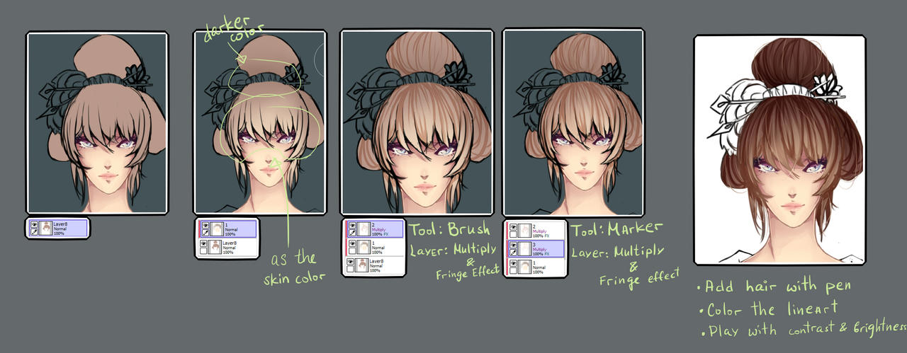 Hair coloring tutorial by thth18 on DeviantArt