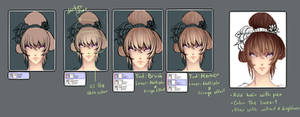 Hair coloring tutorial by thth18