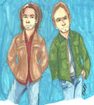Supernatural- Sam and Dean by FairyKats