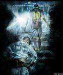 Photoshop Manipulation |Ramos and Messi