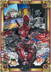 Deadpool poster Thessaloniki comicon by Kokkinakis-Achilleas