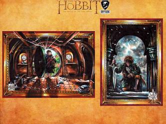 The Hobbit official set-  Bilbo