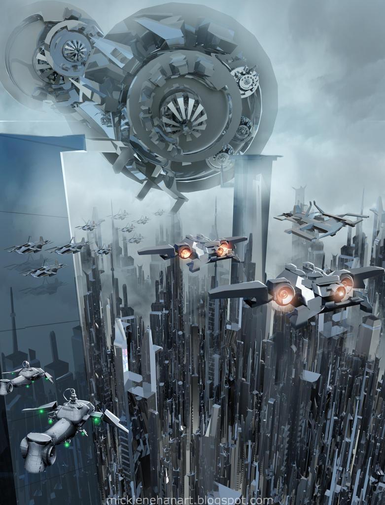 Sci-Fi City by Mick2006