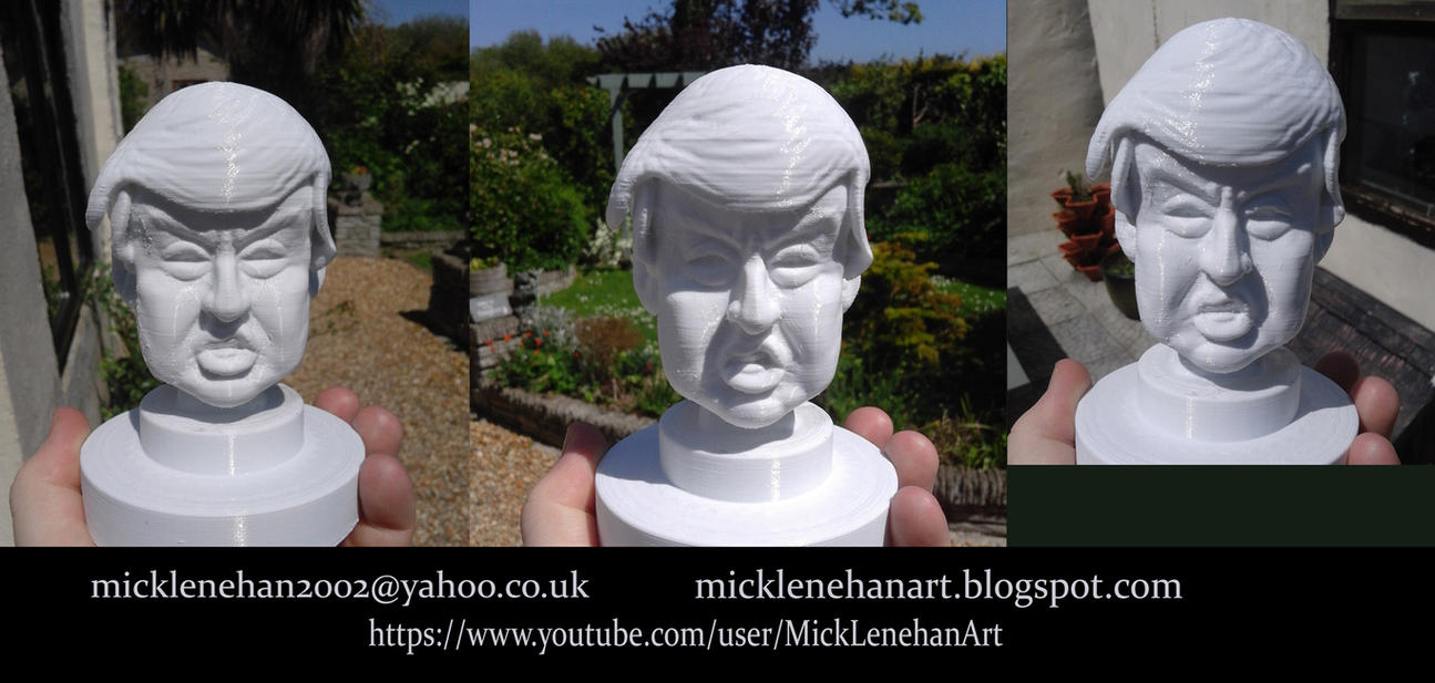 Donald Trump Caricature 3D Printed by Mick2006