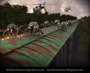 Train Attack by Mick2006