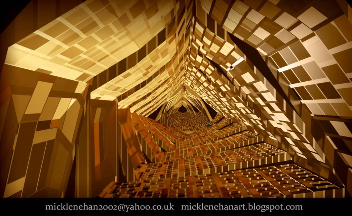 Blender GoldTunnel Animation(link in description) by Mick2006