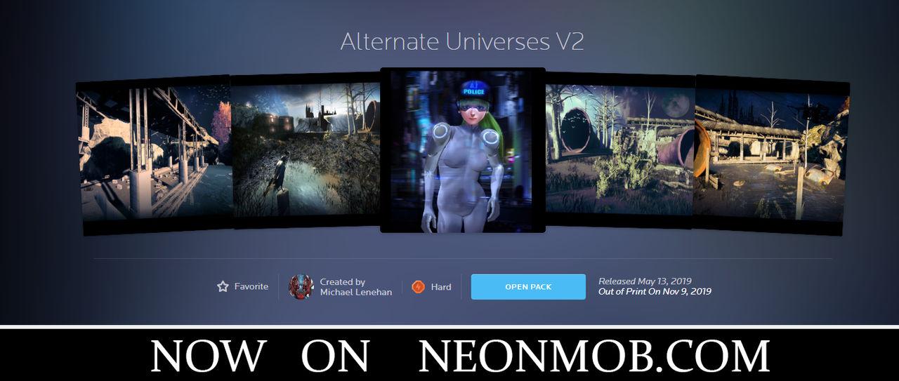 Alternate Universes V2 cards on NeonMob.com by Mick2006