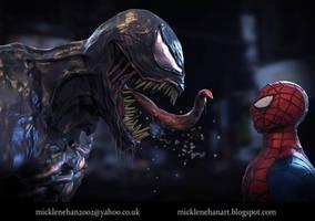 Venom VS Spiderman Face Off (Video in description)