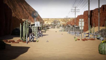 Desert Road UE4 Level Design (Video)