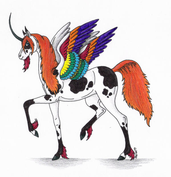 Colorful Unicorn by Shara-Moonglow on DeviantArt