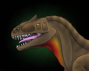 Allosaurus Bust by Shara-Moonglow