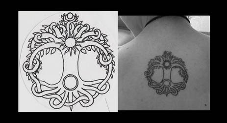 Someone got a Tattoo from one of my Designs! by Shara-Moonglow