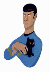 Spock with a kitty