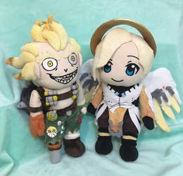 Junkrat and Mercy by NikkiRiddle